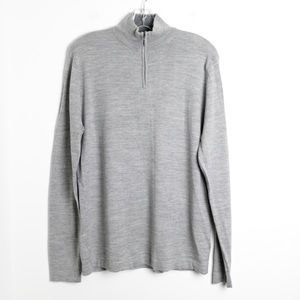 Men's Davis&Squire thin knit merino wool soft zip